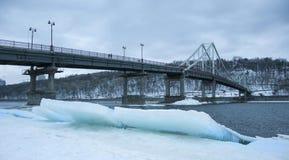 kiev bridżowy pieszy Fotografia Stock