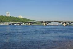 Kiev, bridge on river Dnepr. Bridge on river Dnepr in capital of Ukraine Kiev stock images
