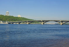 Kiev, bridge on river Dnepr Stock Images