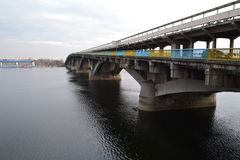 Kiev bridge Royalty Free Stock Photos