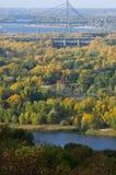 Kiev bridges at autumn Stock Image