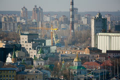 Kiev business and industry city landscape Royalty Free Stock Images