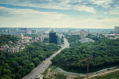 Kiev the capital of Ukraine. Top view Royalty Free Stock Photography