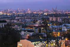 Kiev is the capital of Ukraine. Еvening Royalty Free Stock Photo