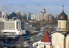 Kiev, the capital of Ukraine, in winter Royalty Free Stock Photo