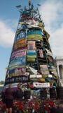 Kiev, center. Tree on Khreschatyk. 2014 april Royalty Free Stock Images