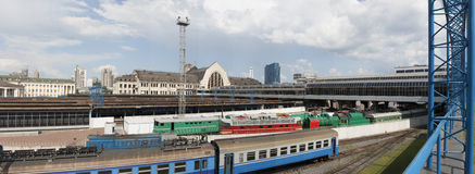 Kiev Central Railroad Station panorama Stock Photos