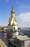 Kiev, church of St. Nikolas on water Stock Photo