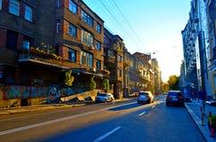 Kiev, cidade velha Fotos de Stock Royalty Free