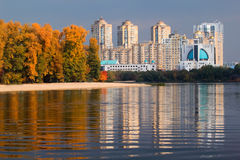 Kiev city in Autumn Stock Photography