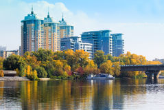 Kiev city in Autumn Stock Images