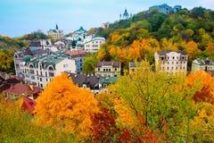 Kiev city in Autumn - Vozdvizhenka district Stock Images