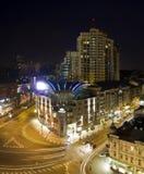 Kiev City - the Capital of Ukraine. Night areal Stock Image