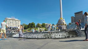 In Kiev city center stock video footage