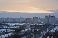 Kiev city on a cold day Stock Images