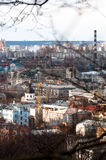 Kiev city from a mountain Stock Images