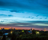 Kiev city skyline panorama Royalty Free Stock Image
