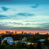 Kiev city skyline panorama Royalty Free Stock Photo