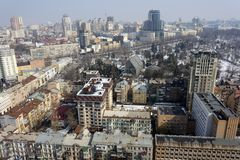 Kiev city, aerial view Stock Image