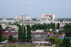 Kiev city view. Left bank of Dnieper river Royalty Free Stock Photography