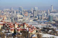 Kiev city at winter Royalty Free Stock Images