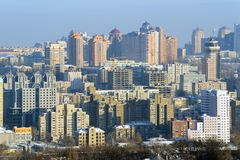 Kiev city at winter Stock Photos