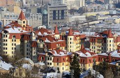 Kiev city at winter Stock Photo