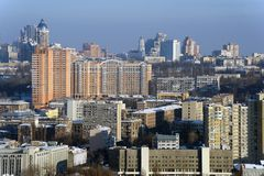 Kiev city at winter Royalty Free Stock Photography