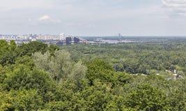 Kiev cityscape aerial view, Ukraine Royalty Free Stock Photo