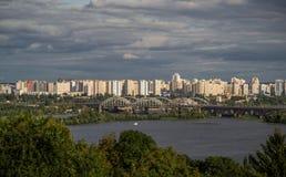 Kiev cityscape and Dnieper river, Ukraine Royalty Free Stock Image