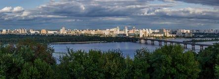 Kiev cityscape and Dnieper river, Ukraine Royalty Free Stock Photo