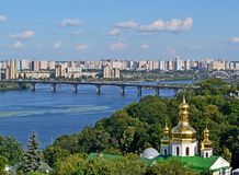Kiev cityscape, Lavra and Dnieper river, Stock Photo