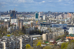 Kiev cityscape in spring Royalty Free Stock Photo