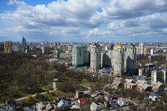 Kiev cityscape in spring Royalty Free Stock Photography