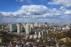 Kiev cityscape in spring Royalty Free Stock Image