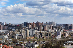 Kiev cityscape in spring Stock Photos