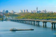 Kiev cityscape, Ukraine Royalty Free Stock Photos