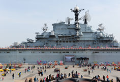 Kiev Class aircraft carrier royalty free stock image