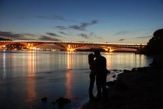 Kiev dans la nuit Photographie stock