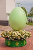 KIEV, DE OEKRAÏNE - APRIL17: Paaseieren bij Oekraïens festival van Eas Stock Foto