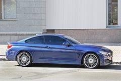 Kiev, de Oekraïne 28 augustus, 2017 AWD de Coupé van BMW ALPINA B4 BITURBO royalty-vrije stock foto's