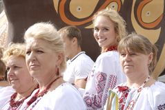 KIEV, de OEKRAÏNE - 24 AUGUSTUS 2013 - Indipendence-dag Stock Afbeelding