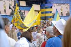 KIEV, de OEKRAÏNE - 24 AUGUSTUS 2013 - Indipendence-dag Stock Afbeeldingen