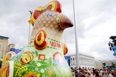 KIEV, de OEKRAÏNE - 24 AUGUSTUS 2013 - Indipendence-dag Royalty-vrije Stock Foto's
