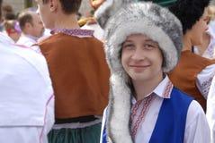 KIEV, de OEKRAÏNE - 24 AUGUSTUS 2013 - Indipendence-dag Royalty-vrije Stock Foto