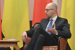 KIEV, de OEKRAÏNE - December 15, 2015: Officieel bezoek van de President van de Republiek Polen Andrzej Duda in de Oekraïne Stock Afbeelding