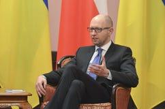 KIEV, de OEKRAÏNE - December 15, 2015: Officieel bezoek van de President van de Republiek Polen Andrzej Duda in de Oekraïne Stock Foto