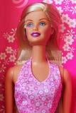 Kiev, de Oekraïne - Februari 27, 2019: Barbie-poppenclose-up Blonde stock fotografie