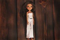 Kiev, de Oekraïne - Februari 27, 2019: Barbie-poppenclose-up Brunette royalty-vrije stock afbeelding