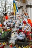 Kiev de Oekraïne 23 februari, 2014 De centrale straat van de stad na het stormen van barricades tijdens EuroMaidan royalty-vrije stock afbeeldingen